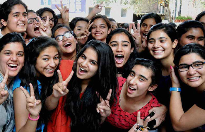 Score Good Marks in Board Exams: A Group of Girls Celebrating