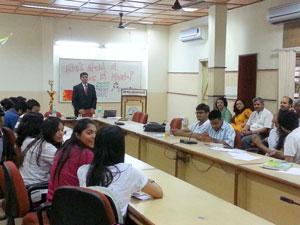 Improve Spoken English: Avdhesh Tondak with DDUC Students, Motinagar, 2013